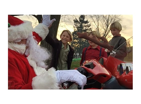 Amish Kids with Santa
